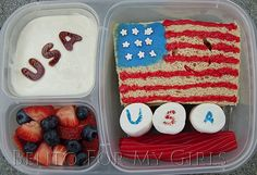 It's Flag Day! Here's a #patriotic lunch from What The Girls Are Having #bento