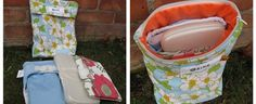 DIY- wet all/catch all bag (and diaper clutch).  Great Baby Shower gift!