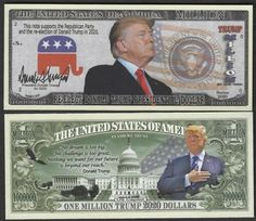 10 Joe Biden for President 2020 Dollar Bill Fake Play Funny Money Note