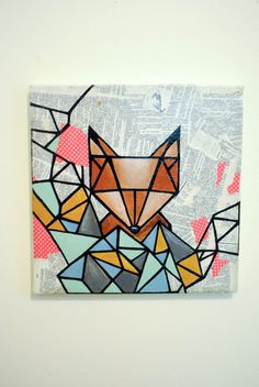 geometrischer fox wall