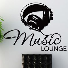 "Style and Apply Music Lounge Wall Decal Color: Royal Blue, Size: 31"" H x 24"" W"