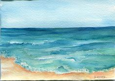 Aruba original watercolor paintingocean art by SharonFosterArt, $18.00