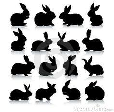 rabbit-silhouettes-18184833.jpg (800×788)