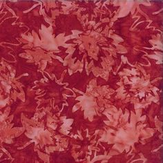 Canadian Batiks Collection: Canada - Canadian Maples in Red by Shania Sunga for Cantik Batiks