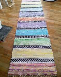 Rag Rugs, Recycled Fabric, Ottomans, Woven Rug, Upcycle, Recycling, Weaving, Carpet, Crafts