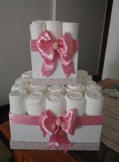 Easy Diaper cake idea :)