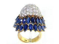 Salavetti ~ Sapphire & Diamond www. Beaded Jewelry, Fine Jewelry, Jewelry Making, Sapphire Diamond, Diamond Rings, Italian Jewelry, Blue Rings, Ring Ring, Marie Antoinette