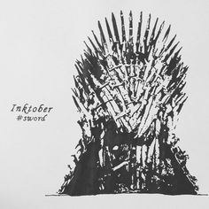 The breath of the greatest dragon forged theIron Throne...the swords of the vanquished, a thousand of them, melted together like so many candles... #inktober2017 #inktober #inkart #day6 #sword #ironthrone #gameofthrones #gotfans #gotlovers #inkartist #blackink