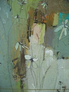 love the flowery line - every time I look at this painting I like it a little more. artist jennifer mercede