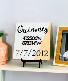 DIY Custom Wedding Coordinate Sign...