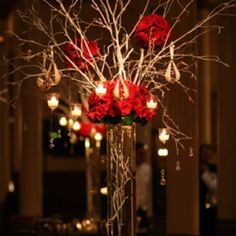 Center pieces - branches and flowers