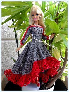 #Cléa5 #Crochet #Barbie #Doll #Muñeca #Vestido #Dress #RaquelGaucha