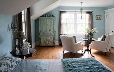 15 magnifiques chambres décorées en bleu et gris