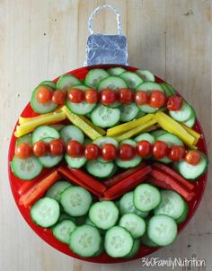 Christmas Ornament Vegetable Platter Recipe on Yummly. @yummly #recipe