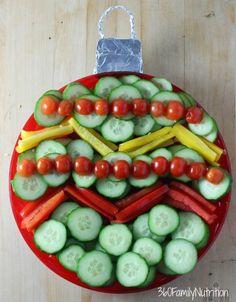 360FamilyNutrition: Christmas Ornament Vegetable Tray