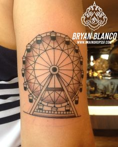 Ferris wheel tattoo life is about being happy ink for Ferris wheel tattoo