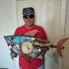 Steampunk Clock, Shark, Captain Hat, Fish, Style, Steampunk Watch, Swag, Pisces, Sharks