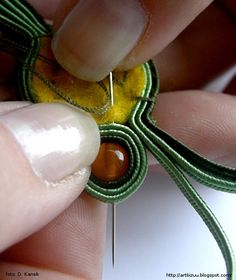 Soutache tutorial - not stringing but a basic beading technique.  #Beading #Jewelry #Tutorials