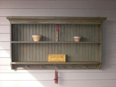 Double Wall Shelf Primitive 5 Peg Display Shelf. $229.00, via Etsy.