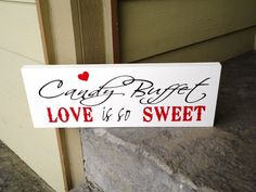 CANDY BUFFET wedding sign for your dessert by OurHobbyToYourHome, $33.95