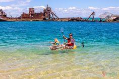 Tangalooma Wrecks, Moreton Island, Queensland, Australia