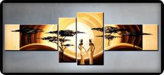 EL RINCON DE MIS AFICIONES: ¡PINTURA MODERNISTA! CUADROS PINTADOS A MANO. African Women, African Art, Africa Painting, Cuadros Diy, Door Design, Black Art, Beautiful Landscapes, Scenery, Sculpture