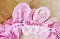deco mesh wreath tutorial step by step instructions step 3 attach second circle