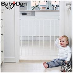 BabyDan No Trip Screw Fitted Baby Stair Safety Gate