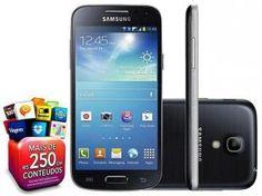 "Smartphone Samsung Galaxy S4 Mini Duos DualChip 3G - Android 4.2 Câm. 8MP Tela 4.3"" Super Amoled Wi-Fi"