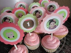 Girls First Birthday Party Ideas: Pink and Green Owl Theme Party Baby Girl First Birthday, First Birthday Parties, Birthday Ideas, Birthday Fun, Pumpkin 1st Birthdays, First Birthdays, Pumpkin Patch Birthday, 1st Birthday Cake Topper, Party Themes