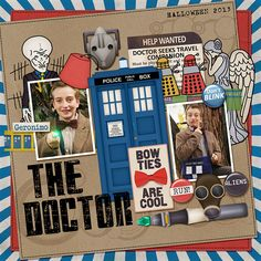 The Doctor digital scrapbook layout page by Chanell Rigterink
