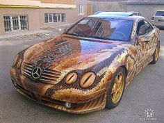Mercedes-Benz with snake wrap