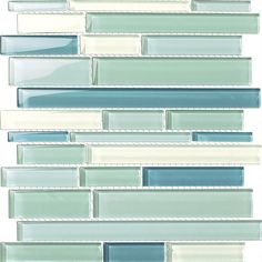 Glossy Sky Blue Mix Glass Stick Mosaic Tile Mesh Backed Sheet Glass Tile Shower, Blue Glass Tile, Shower Floor, Glass Tile Backsplash, Glass Mosaic Tiles, Kitchen Backsplash, Backsplash Ideas, Wall Tile, Tile Stores