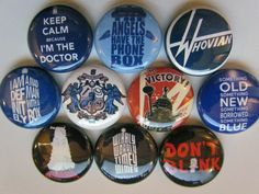 Doctor Who, Dr Who Tardis Whovian Pinback Button Badge Pin (pack of 10) by BigButtonBoy on Etsy https://www.etsy.com/listing/175012042/doctor-who-dr-who-tardis-whovian-pinback