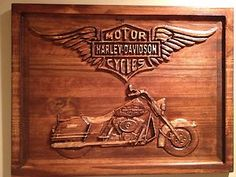 Harley Davidson Motorcycle 3D Wood Sign Vintage Style Road King | eBay