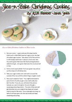 tutorial: miniature slice and bake Christmas cookies