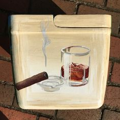 Scotch whiskey and cigar cooler is perfect for Grandpa