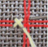 Comment broder au point de croix sur de la toile de lin?