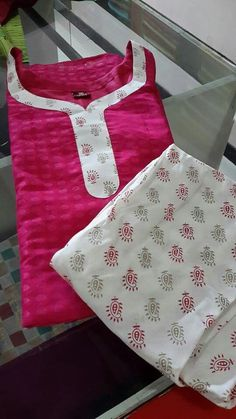 How to make different types of kurthi neck patterns - Simple Craft Ideas Chudithar Neck Designs, Salwar Neck Designs, Churidar Designs, Neck Designs For Suits, Kurta Neck Design, Neckline Designs, Kurta Designs Women, Blouse Neck Designs, Sleeve Designs
