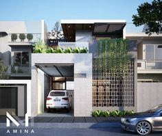 Villa Design, Facade Design, Exterior Design, Bungalow House Design, Modern House Design, Brick Architecture, Architecture Details, Modern House Facades, Home Building Design