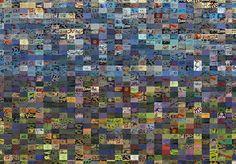 Studio Artist - Factory Settings - Mosaic Movie Brush - Grid Scan City Photo, Mosaic, Studio, Abstract, Artist, Grid, Light And Shadow, Summary, Mosaics