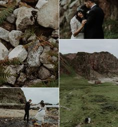 Bride and Groom from an atmospheric and intimate elopement on the Isle of Islay. Photography by The Kitcheners.