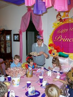 Doorway.  Princess and knight party