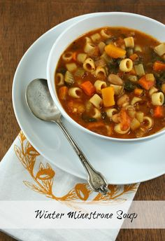 Winter Minestrone Soup @Lisa Phillips-Barton | Authentic Suburban Gourmet