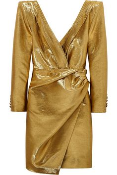 Saint Laurent Ruched lamé mini dress, Looks so much like my prom dress from senior year Yeah I rocked it! Urban Style Outfits, Fashion Outfits, Fashion Design Inspiration, 90s Urban Fashion, High Fashion, Saint Laurent Dress, Womens Ripped Jeans, Urban Fashion Photography, Urban Dresses