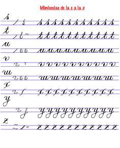 Imagen: ejercicios de caligrafia