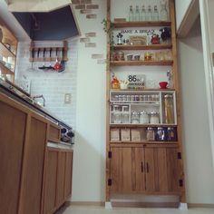 ゴミ袋収納/DIY/キッチンツール掛け/キッチン雑貨/キッチン収納/キッチンツール…などのインテリア実例 - 2017-05-03 10:59:47 | RoomClip(ルームクリップ)