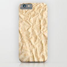 Desert Sand Crinkled Rumpled Wrinkled Tissue Paper iPhone & iPod Case