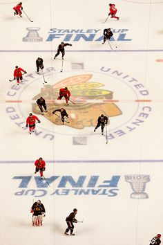 The team hits the ice on June 10, 2015. #Blackhawks #StanleyCup