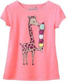 Jumping beans ® glitter giraffe tee - toddler on shopstyle.com